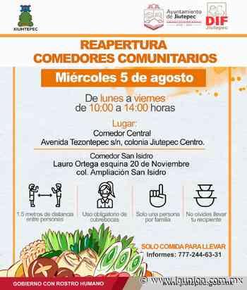 Reapertura DIF Jiutepec dos comedores comunitarios - Unión de Morelos