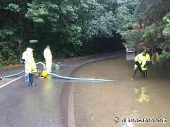 Maltempo, anche Venegono Superiore in lotta con la pioggia - Prima Saronno