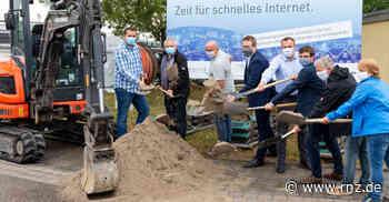 Glasfaser: Spatenstich für gigabitfähiges Netz in Rauenberg - Rhein-Neckar Zeitung