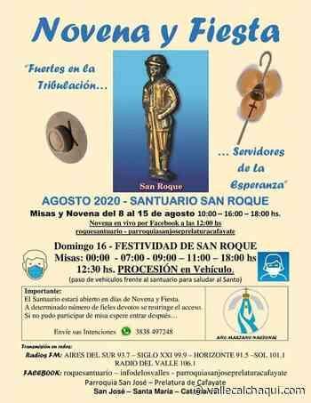 Programación de la Festividad de San Roque - vallecalchaqui.com