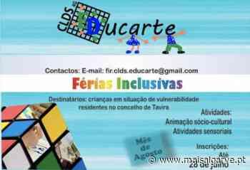 Projeto Educarte – CLDS 4G combate a pobreza infantil no concelho de Tavira - Mais Algarve