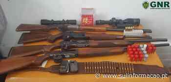 Tavira: Armas de fogo e munições apreendidas a suspeito de violência doméstica - Sul Informacao