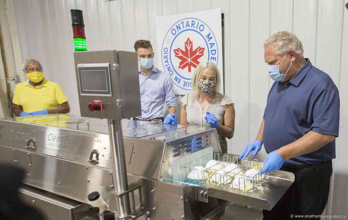 Beamsville company Clean Works receives $2M from province to expand production of sanitizing device - StCatharinesStandard.ca