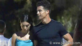 Cristiano Ronaldo & Girlfriend Georgina Rodriguez Couple Up for Date Night in Italy - Just Jared