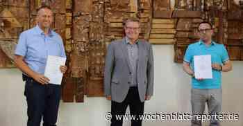 Die Gemeindeverwaltung Mutterstadt informiert: Wolfgang Hampel und Stefan Schaus feiern Jubiläum - Mutterstadt - Wochenblatt-Reporter