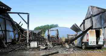 Un hangar agricole détruit par les flammes à Cléder - Le Télégramme