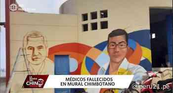 Chimbote: pintan mural en homenaje a médicos fallecidos por la COVID-19 - Diario Perú21