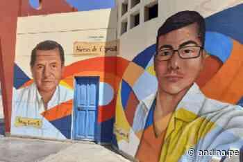 Chimbote: pintan murales con rostros de médicos fallecidos por covid-19 - Agencia Andina