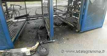 À Brest, des abris à vélo incendiés près de la gare - Le Télégramme
