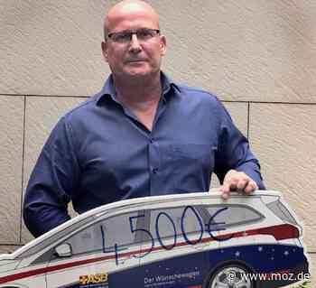 Spende: Mann aus Wandlitz übergibt 4500 Euro an Wünschewagen - Märkische Onlinezeitung