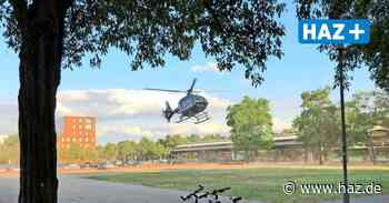Hubschrauber der Bundespolizei landet in Langenhagen - Hannoversche Allgemeine