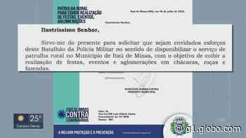 Prefeitura aciona Polícia Militar para tentar evitar aglomerações em Itaú de Minas - G1