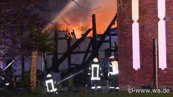 Oelde (Kreis Warendorf): Fachwerkhaus brennt in Stromberg nieder - Großbrand - wa.de