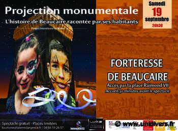 Projection monumentale « Interstices » Site de la Forteresse samedi 19 septembre 2020 - Unidivers