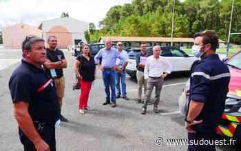 Incendie à Anglet : Alain Rousset constate lui-même les dégâts - Sud Ouest