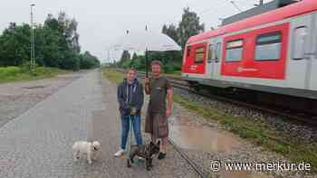 Manchmal ist es kurz vor knapp: Spaziergänger berichten über Gleisläufer - Merkur.de
