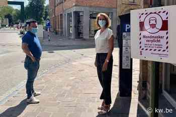 Mondmasker verplicht steeds op zak in politiezone Arro Ieper - Krant van Westvlaanderen