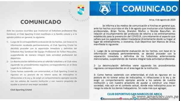 Sporting Cristal: Su comunicado sobre Ray Sandoval fue copiado por club chileno, denuncian los hinchas - América Televisión