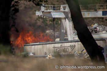 PIGNAN : Impressionnant incendie à la déchetterie Biocama. - IPH Média