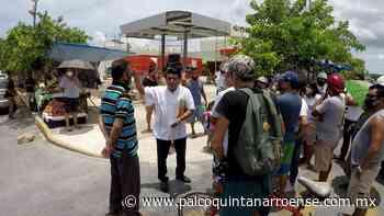 Protestan vecinos en Playa del Carmen por instalación de gasera cerca de fraccionamiento - Palco Quintanarroense