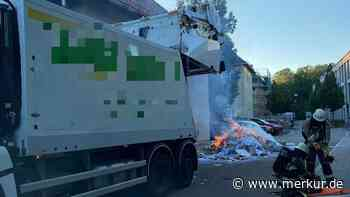 Pullach: Feuerwehr löscht brennenden Altpapier-Berg - Merkur.de