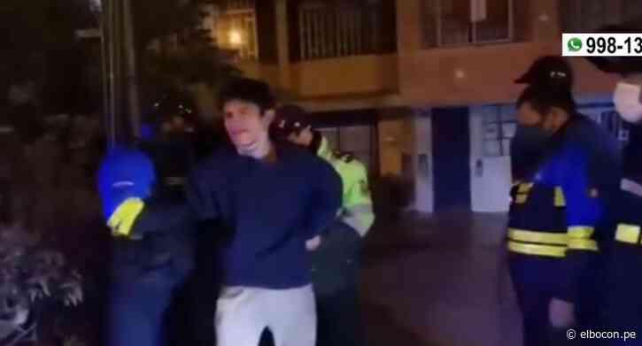 San Luis: sujeto llora al ser detenido luego de intentar robar dentro de salón de belleza   VIDEO - El Bocón