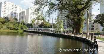 Mirante na Lagoa da Saudade, em Santos, começa a tomar forma - A Tribuna