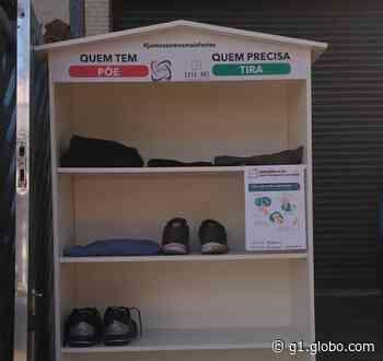 Empresário cria 'armário solidário' para ajudar população que precisa de doações - G1