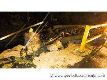 Fuertes lluvias causaron daños en el Puente de los Ángeles - El Carmen fue cerrado temporalmente - Periódico Mensaje