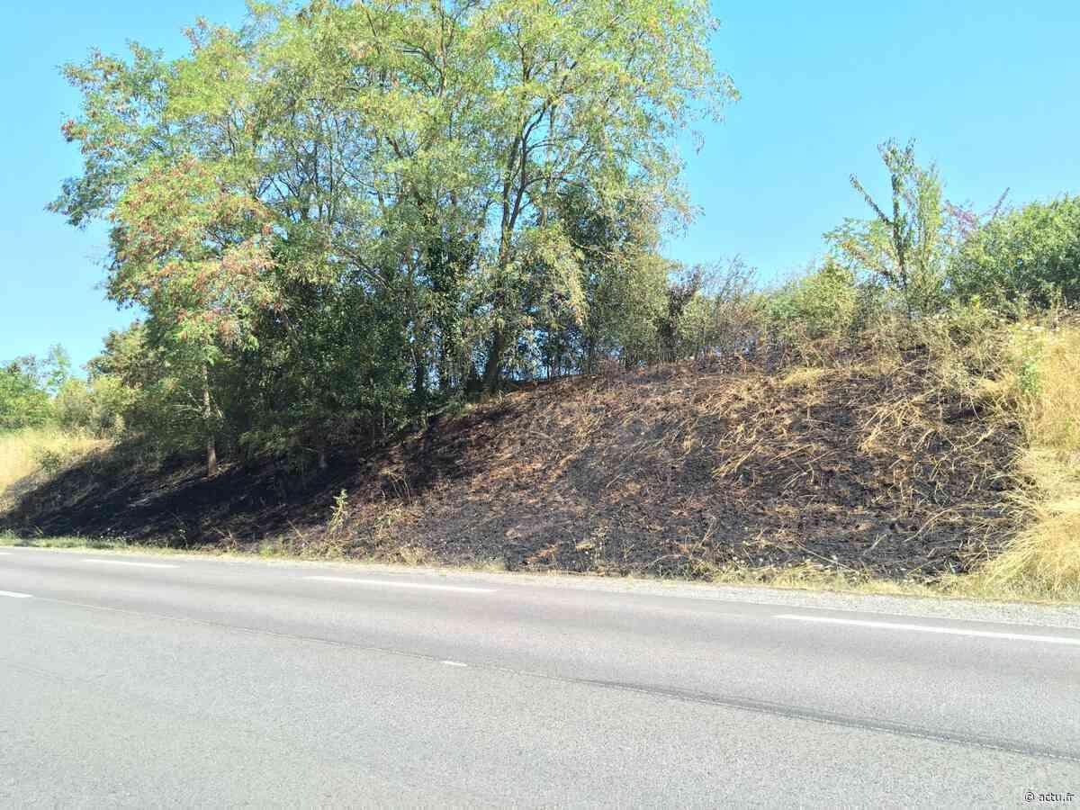 Bernay : un feu de talus le long de la déviation (D438) - actu.fr