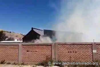 Incendio genera pánico en terrenos de Perú Rail Puno - Pachamama radio 850 AM