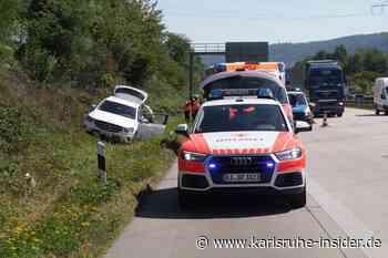 Drama! Auto in Böschung aufgefunden auf der A5 bei Karlsruhe - Karlsruhe Insider