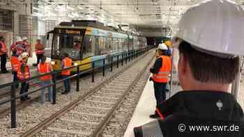 Erste Testfahrt im Karlsruher Straßenbahntunnel   Karlsruhe   SWR Aktuell Baden-Württemberg   SWR Aktuell - SWR