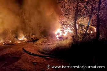 Structure fire in the forest near Barriere gives Glen Grove residents a scare - Barriere Star Journal