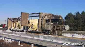 Lkw geht auf A6 bei Kaiserslautern in Flammen auf - SWR