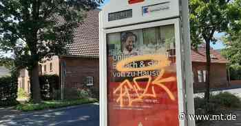 Unbekannte sprühen zahlreiche Graffiti in ganz Windheim | Petershagen - Mindener Tageblatt