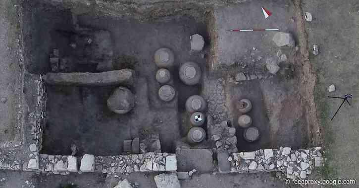 Byzantine granary found in ancient city of Amorium in central Turkey
