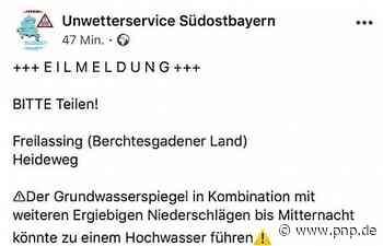 Grundlose Panik? Warnung für Heideweg irritiert - Freilassing - Passauer Neue Presse
