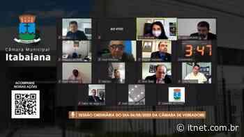 Câmara Municipal de Itabaiana vivenciou pela primeira vez a experiência de plenárias virtuais - Portal Itnet