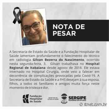 Técnico em radiologia do Hospital Regional de Itabaiana morre em decorrência de complicações causadas pelo coronavírus - Portal Itnet