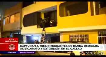 Detienen a presuntos miembros de una banda de sicarios en el Callao - Diario Perú21