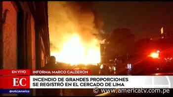 Cercado de Lima: Incendio en el jirón Callao dejó más de 60 familias damnificadas - América Televisión