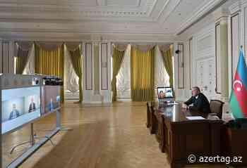 Präsident Ilham Aliyev hält Online-Beratung über Maßnahmen zum Kampf gegen Coronavirus und wirtschaftliche Lage ab VIDEO - AZERTAC