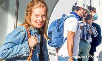 Samara Weaving leaves hotel quarantine in Sydney with Rose Byrne and Bobby Cannavale - Daily Mail