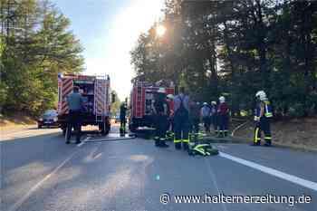 Erneuter Feuerwehreinsatz an der Sythener Straße sorgte für lange Staus - Halterner Zeitung