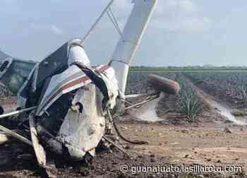 Se desploma aeronave en Romita; piloto en estado de gravedad - La Silla Rota