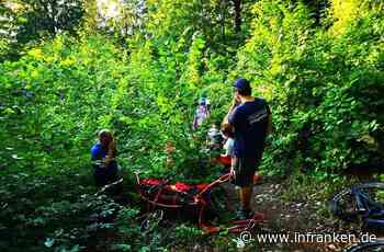 Kreis Forchheim: Mountainbikerin mit Gebirgstrage unter Seilsicherung gerettet