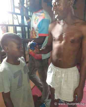 Suspected ritualist caught using handkerchief to steal children manhood in - Blueprint newspapers Limited