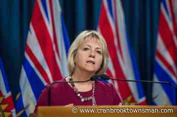 B.C. reports 47 new cases, no deaths due to COVID-19 - Cranbrook Townsman