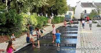 La fontaine de la place de la Maison des Princes fait le bonheur des enfants - Le Télégramme
